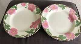 Lot 2 Franciscan Desert Rose 10 3/4 Dinner Plates Modern Production - $25.00