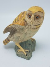 UCTCI JAPAN CERAMIC BARN OWL - Beautiful Coloring Porcelain - $11.95