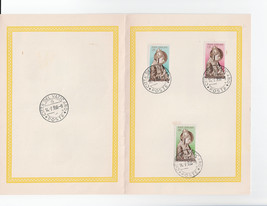 1955 Nicholas V Set of 3 Vatican City Stamps Catalog 197-99 First Day Folder