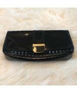 Women's Ted Baker Black Patent Clutch - $47.30