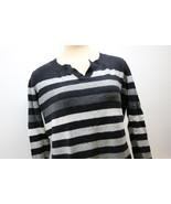 Black & White Stripe Vneck Sweater Woman's XL - $9.95