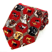 Sporting Dogs Mens Silk Neck Tie Dog Necktie Pointer Spaniel Retriever R... - $24.70