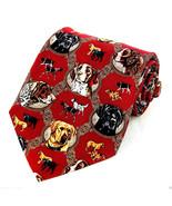 Sporting Dogs Mens Silk Neck Tie Dog Necktie Pointer Spaniel Retriever R... - $24.70