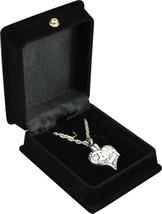 """White Heart Pendant w/20"""" chain & black velvet display box - $149.99"""
