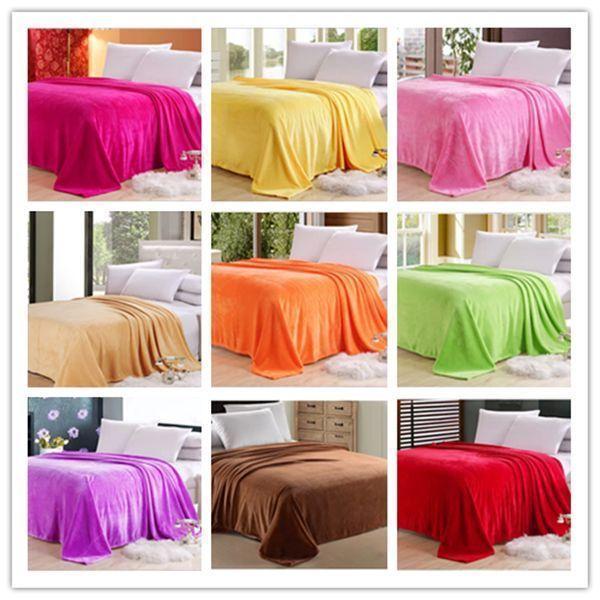 1.8mX2m Big Size Warm Microplush Throw Blanket Rug Plush Fleece Bed Decoration