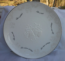LENOX LOVE IS PATIENT KIND NEVER ENDS HOPES WEDDING OPAL INNOCENCE PLATE... - $42.07
