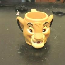 1990s Disney Lion King Young Simba 5oz Plastic Kids Mug Cup Applause Chi... - $19.75