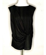 MM Lafleur Womens Sleeveless Blouse Top Black Striped Size M - $49.95