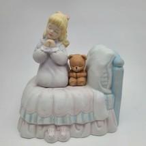 San Francisco Music Box Company Childrens Prayer Teddy Bear 1997 - $38.11