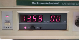 Dual DC Power Supply Beckman Industrial MPS60 Healthcare Lab Science Equipment image 2