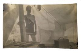 Antique Photograph Photo Man Bathing Suit Partial Undress Gay Interest S... - $14.84