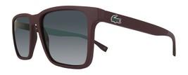 LACOSTE Men's Rectangular Sunglasses L872S 604 Matte Burgundy Grey L872 NEW 57mm - $163.30
