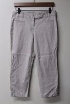W10644 Womens Ann Taylor Loft Tan Khaki Stretch Original Crop Capris Pants 4 - $14.50