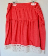 fire&ice Valerian Red Skirt with floral pattern trim Size medium 10/12 N... - $8.90