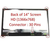 New 14.0€Hd Screen N140Bge-E53 Compatible With Dell Latitude E7480 1366X768 Matt - $172.99
