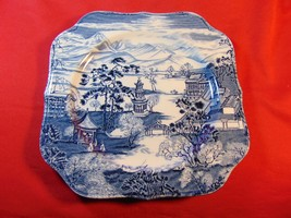 "7 1/2"" Square Salad Plate, from Johnson Bros., in the Enchanted Garden Pattern - $8.99"