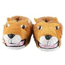 KushyShoo Men's Fuzzy Happy Feet Animal Slippers with Wolf/Monkey/Lion/D... - $27.94