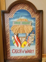 Beachcombers Surf Shack Catch A Wave 3D Arched Plaque Wall Sign Tiki Hut FS - $49.99