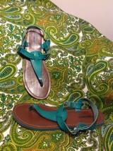 73e1eb48f17 Green Mossimo Supply Company Women  39 s Thong Sandals Straps W BUCKLE Sz