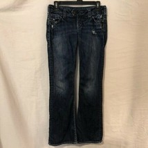 Silver Womens 26 Jeans Tuesday Boot Cut Distressed Stretch Cotton Spande... - $29.98