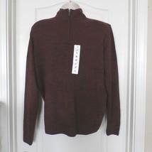 Geoffrey Beene Men's Mock Neck 1/4 Zip Sweater Burgandy  Sz M-XL NWT $65 - $26.00