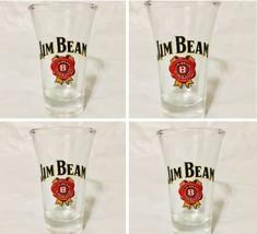 Jim Beam Shot Glasses 2oz 3.5 Inch Fluted Lot Of 4 Kentucky Whiskey Shoo... - €15,41 EUR