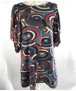 Lapis Anthropologie Small Sweater Dress Tunic Geometric Gray Blue Purple - $29.66
