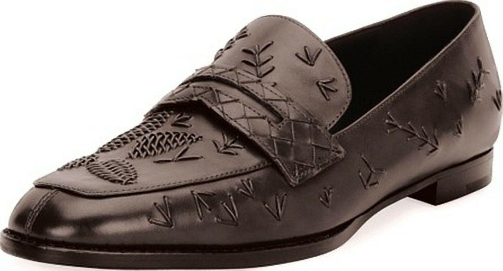 Bottega Veneta Stitched Slip-On Leather Penny Loafer 38.5 MSRP: $990.00 - $593.01
