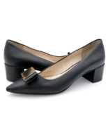 Cole Haan Womens 6B Grand OS W11962 Black Leather Waterproof Slip On Pumps - $33.99