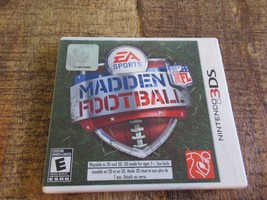 Madden NFL Football (Nintendo 3DS, 2011) Video Game Complete Working - €29,72 EUR