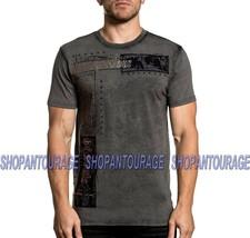 Affliction Tornado A20207 New Short Sleeve Black Graphic Fashion T-shirt... - $54.95