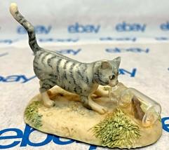 """Lowell Davis """"In a Pickle"""" Figurine  1987 Schmid Cat Mouse Bottle 225284 - $61.86"""
