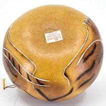 Handcrafted Carved Gourd Art Tiger Big Cat Zoo Animal Ornament Made in Peru image 5