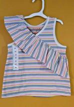 Toddler Girls Tank Top Cat & Jack Rainbow Stripe Ruffle 4T NWT - $4.89