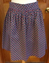 Half Apron Homemade Navy Blue With Red Hearts One Front Pocket - $9.85