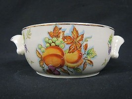 Fruit Oven To Table Ware Golden Harvest Missing The Lid 22kt Gold Lined - $14.84