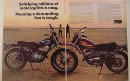 1975 Harley Davidson SX-250 & SX 175 Limited Edition 2 Page Print Ad  - $9.99