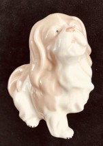 """Made In Spain Porcelain Lladro Like Spaniel Dog Tan And White 5"""" X 5"""" - $18.66"""