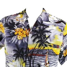 Royal Creations Sunset Palms Diamond Head Boats Flowers Large Hawaiian S... - $34.64