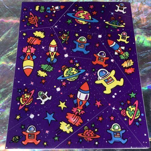 Lisa Frank Complete Sticker Sheet S122 Astronauts $22UPS1DayAir/$6USPS1stClass