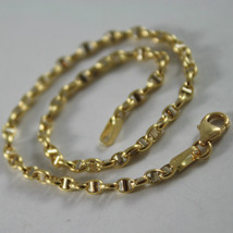 18K YELLOW WHITE GOLD BRACELET, OVAL NAVY MESH, 7.50 INCHES LONG, MADE IN ITALY image 2
