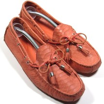 Cole Haan Womens Loafers Driving Shoes Snake Print Leather Coral Size 9 B - $35.00