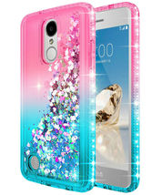 For LG Aristo 3/2 Plus/Fortune 2/Rebel 4 /Zone 4 Liquid Glitter Phone Ca... - $12.00