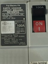 FUJI ELECTRIC SG103CUL 100A EARTH LEAKAGE CIRCUIT BREAKER - $68.02