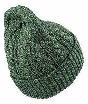 Dope Couture Amarillo / Verde Negro Punto Cable Puño Plegable Gorro Invierno Nwt image 3