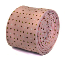 Frederick Thomas pink spotted 100% cotton tie FT2161 RRP £19.99