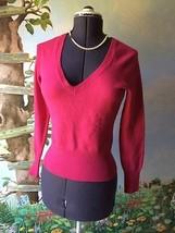 Banana Republic Pink Fine Italian Merino Wool V-neck Sweater Top Blouse Size M - $35.64