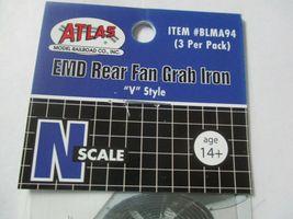 "Atlas # BLMA94 END Rear Fan Grab Iron ""V"" Style 3 per Pack  N-Scale image 4"