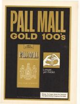 1975 Pall Mall Gold 100's Cigarette Advertisement (b) - $16.00