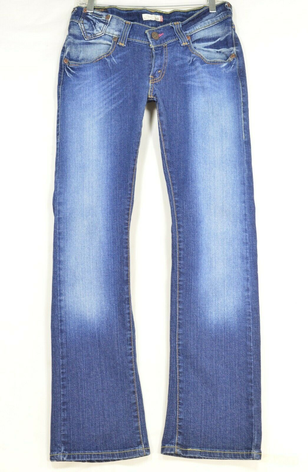 Levi 504 7 x 32 slouch straight leg low rise dark wash image 10